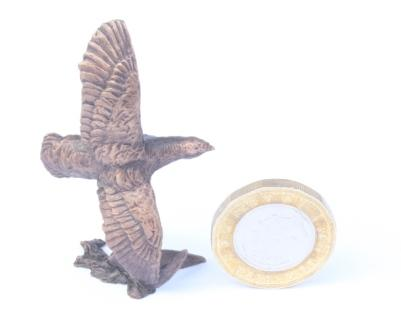 Partridge Sold Miniature Bronze by Butler and Peach