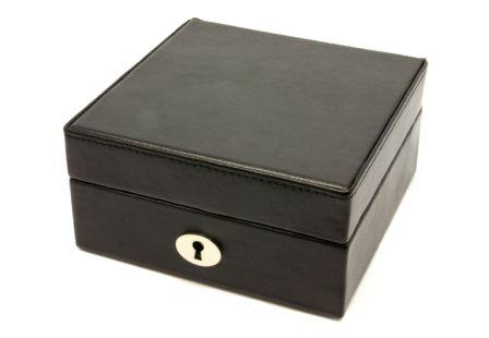Cufflink Storage Case Mens Jewellry Box Lockable