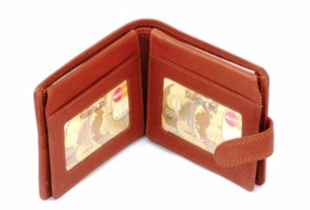 Stooping Falcon Leather Wallet Black or Brown