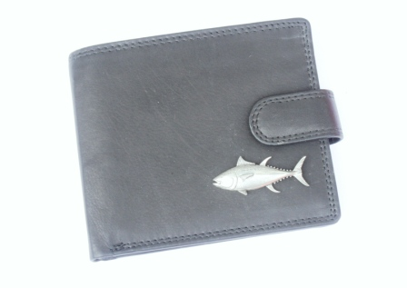 Tuna Design wallet Black or Brown Fishing Gift