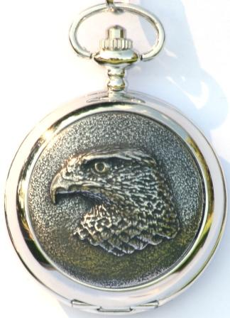Hawk Falconry Pocket Watch Gift Boxed FREE ENGRAVING