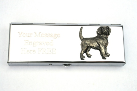 Beagle Dog Design 7 Day Pill Box With FREE Engraving