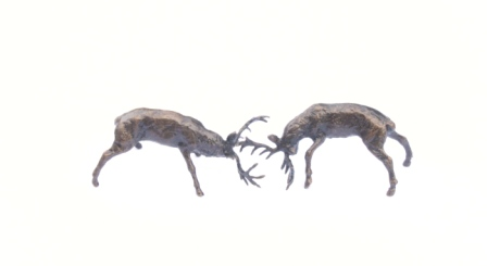 Rutting Stags Miniature Bronze by Butler and Peach (2051)