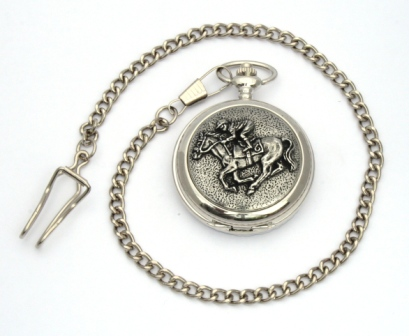 Horse Racing Design Pocket Watch Free Engraving Gift