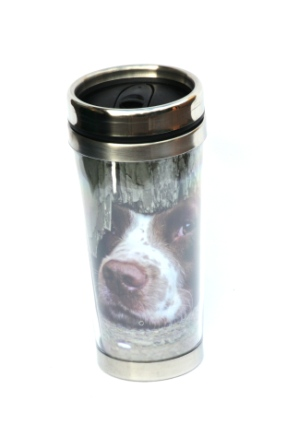 Springer Spaniel design Travel Mug Thermal shooting gift