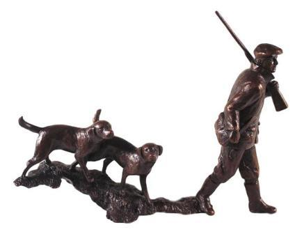'In The Field' Solid Bronze Sculpture Shooting gift (788)