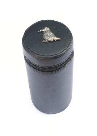 Woodcock Sitting Peg Finder Numbered Cups 1-10 Black Leather Cas