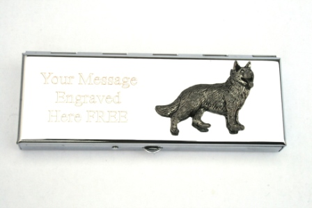 Alsatian Dog 7 Day Pill Box With Free Engraving Gift