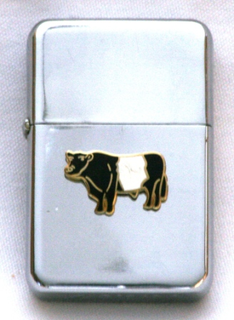 Belted Galloway Cow Petrol Lighter Free Engraving Farming Gift R