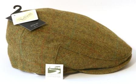 Brown  Tweed Flat Cap 100% Wool Country Shotting Hat
