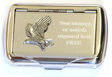Eagle Flying Roll Up Cigarette Tobacco Tin Falconry Hunting Gift