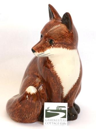 Fox Money Box Design By Quail Pottery Ideal Hunting Gift For