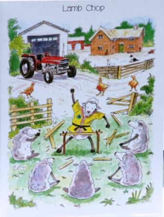 Farming Birthday Card Funny Design Lamb Chop Writing