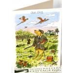 """Gundog"" Pheasant shooting Design Greetings Card"