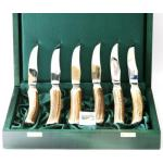 Abbeyhorn Stag Antler Horn Handled Steak Knives set of 6