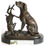 Hare and Hound Hot Cast Full Foundary Bronze