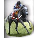 Horse Racing Design Wall Clock Gift Boxed