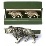 Border Collie Cufflinks & Tie Clip Set Mens Sheepdog Present