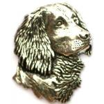 English Springer Spaniel Gundog Pewter Badge