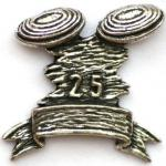 Clay Pigeon Shooting Pewter Pin Badge