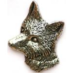 Fox Head Pewter Pin Lapel Badge AR1 Hunting Gift