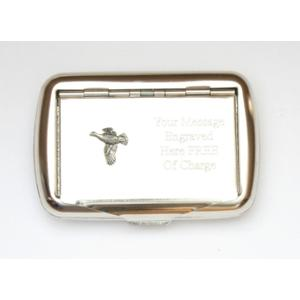 Flying Grouse Design Tobacco Tin Free Engraving Gift