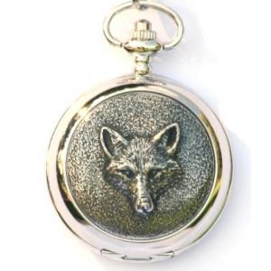 Fox Mask Hunting Pocket Watch Gift Boxed FREE ENGRAVING