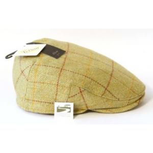 Red & Yellow Tweed Flat Cap 100% Wool Country Shotting Hat