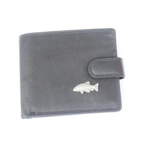 ea78c9f889 tench fish leather wallet black or brown wallets card.  GAMEKEEPERSCOTTAGEGIFTS