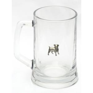 jack russell emblem pint glass lager stein beer tankard gift. Black Bedroom Furniture Sets. Home Design Ideas