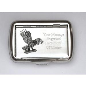Eagle Landing Design Tobacco Tin Free Engraving 113