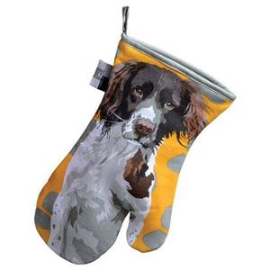 Springer Spaniel Oven Glove Gauntlet by Leslie Gerry