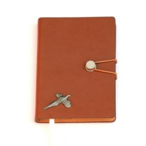 Pheasant Pewter Emblem Notepad A 6 Pocket Size Notebook Ideal Sh