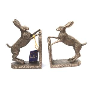 Hare bronze Resin Bookends by Harriet Glen
