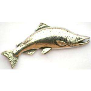 Rising salmon pin badge for fly fishing fans pin badges for Rising fly fishing