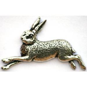 Running Hare Emblem Belt Buckle and Leather Belt in Gift Tin Ideal Hunting Gift